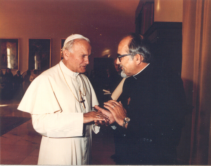 Photo avec Jean-Paul II: