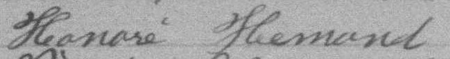 Signature d'Honoré Hemond: 25 avril 1892
