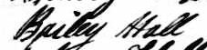 Signature de Bailey Hall: 8 juin 1843
