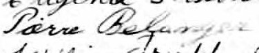 Signature de Pierre Bélanger: 10 avril 1899
