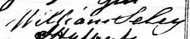 Signature de William Seley: 27 juin 1847