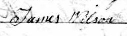 Signature de James Wilson: 12 septembre 1840