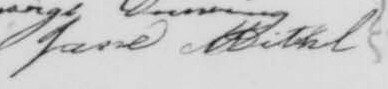 Signature de Jane Mitchel: 27 juillet 1856