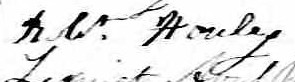 Signature de Robt. Houley: 20 avril 1841