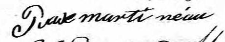 Signature de Pierre Martineau: 15 avril 1823