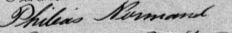 Signature de Philéas Normand: 7 août 1887