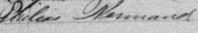 Signature de Philias Normand: 4 novembre 1891