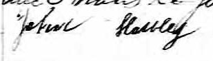 Signature de John Houley: 30 mars 1847