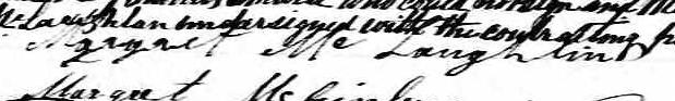 Signature de Margaret McLaughlin: 25 mai 1875
