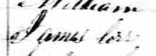 Signature de James Corr: 19 mai 1862