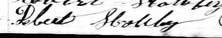 Signature de Robert Houley: 19 avril 1864