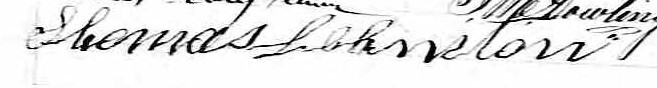 Signature de Thomas Johnston: 2 octobre 1865