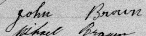 Signature de John Brown: 16 avril 1900
