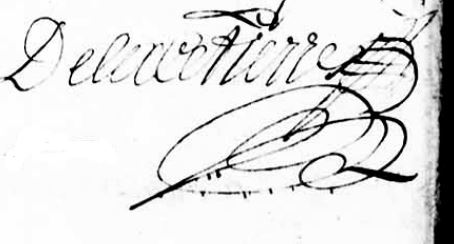 Signature de Delacitierre: 1702