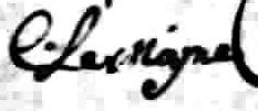 Signature de C. Lemoyne: