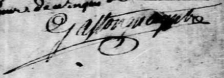 Signature de Gastonguay, ptre: 21 octobre 1737