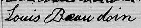 Signature de Louis Beaudoin: 30 mars 1863
